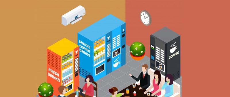 Restaurants-and-cafes best vending machine location